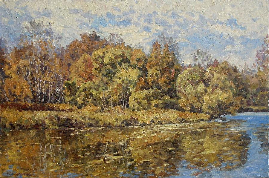 Landscape Painting - Gold Fall by Andrey Soldatenko