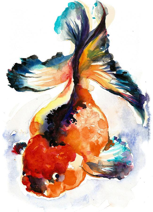Gold Fish - Xxxl Large Format Painting