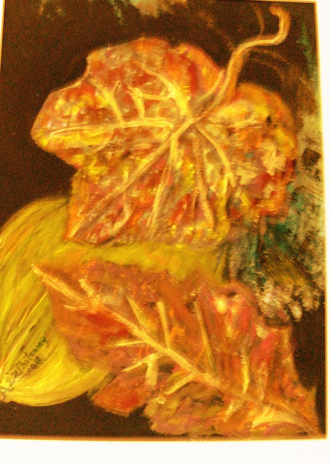 Gold Painting - Gold Gold Gold by Anne-Elizabeth Whiteway