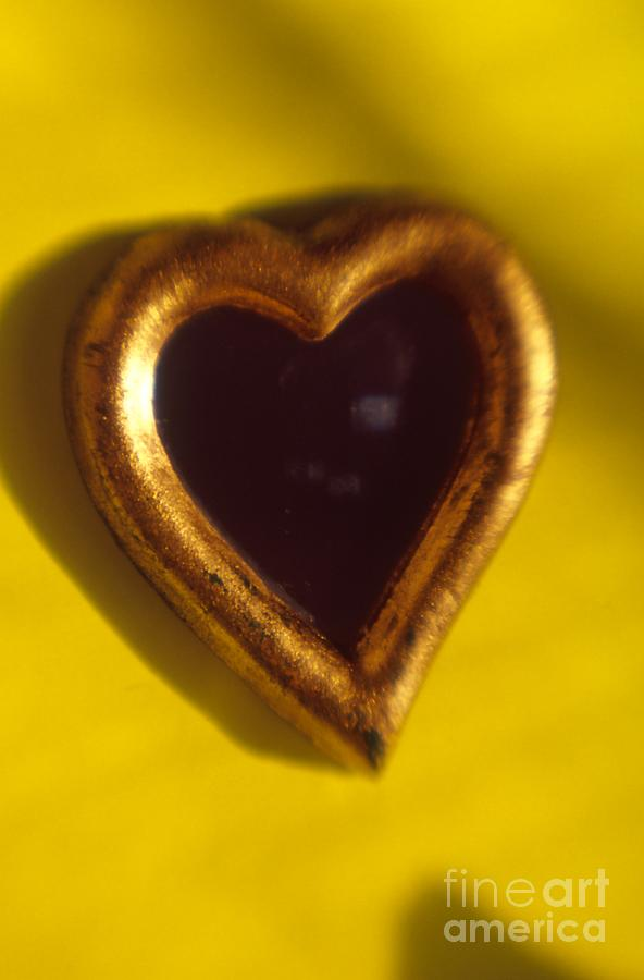 Color Photograph - Gold Heart Mirror Series by Tamarra Tamarra