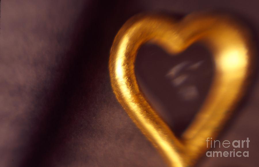 Color Photograph - Gold Heart Mirror by Tamarra Tamarra