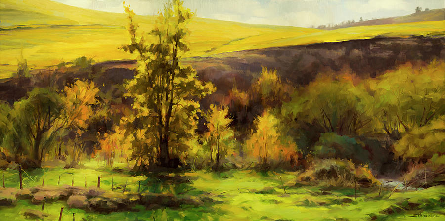 Landscape Painting - Gold Leaf by Steve Henderson