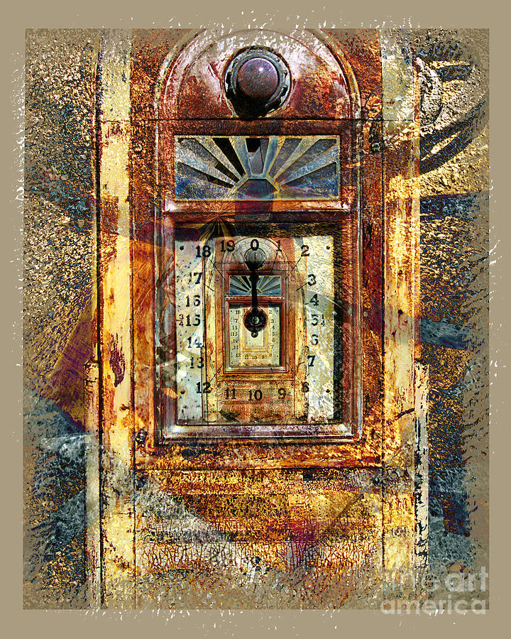 Gas Pump Digital Art - Gold Mine Gas Pump by Chuck Brittenham