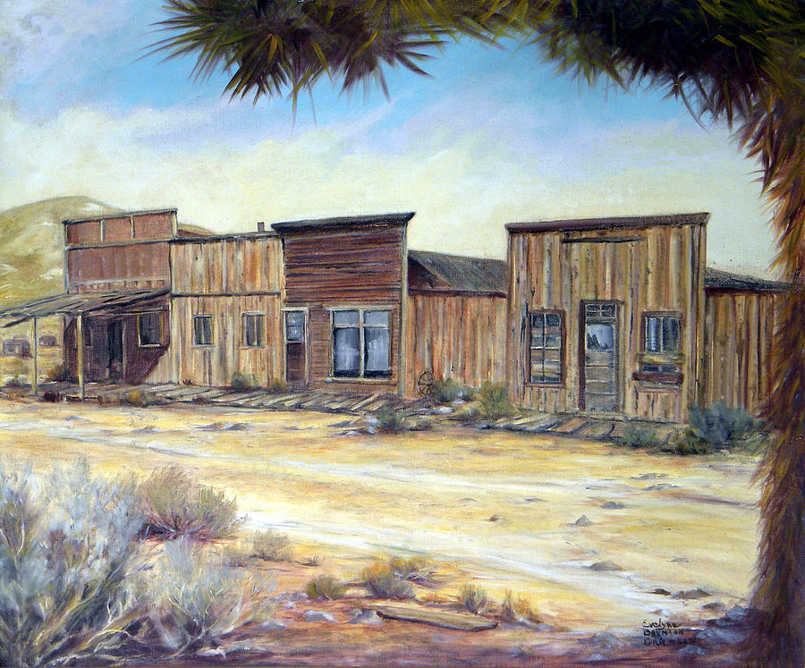 West Painting - Gold Point Nevada by Evelyne Boynton Grierson