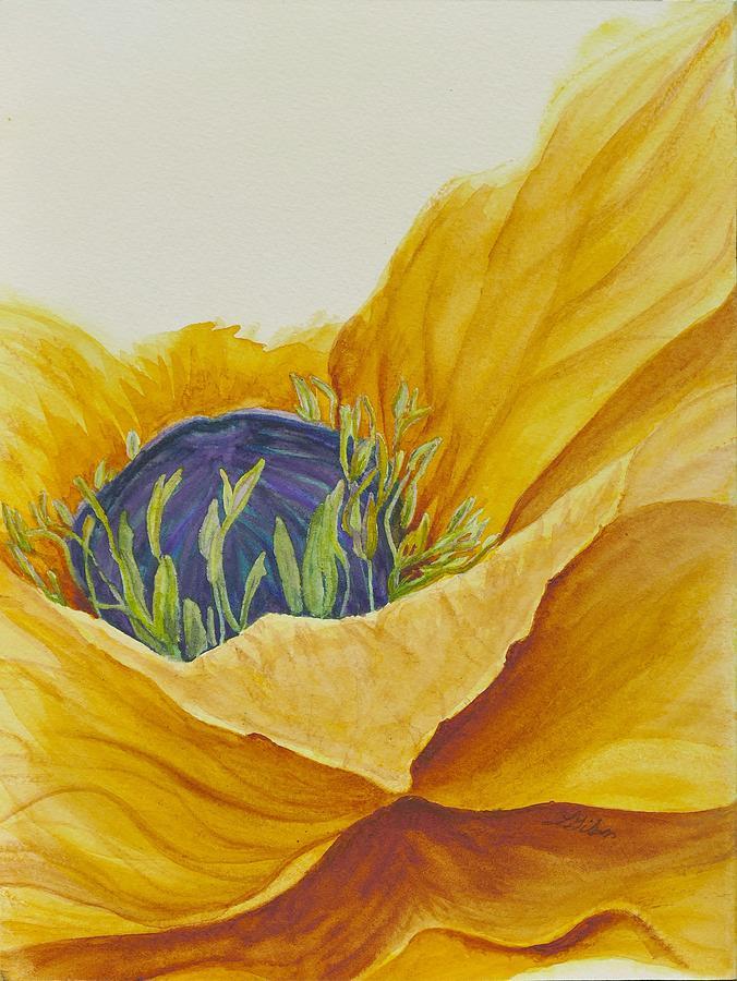 Gold Poppy Painting - Gold Poppy by Lisa Gibson Art
