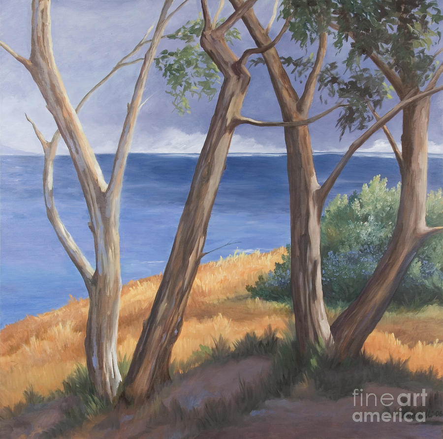 Landscape Painting - Gold Rush 3 by Kathryn Donatelli