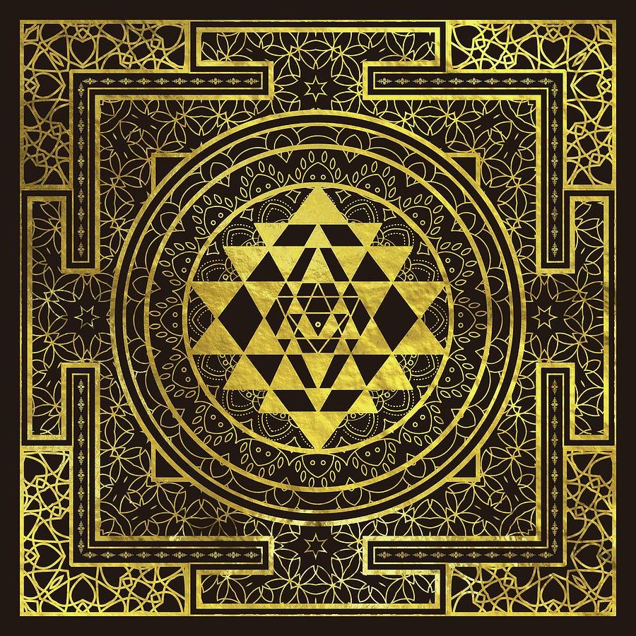 Gold Sri Yantra Sri Chakra Digital Art By Creativemotions