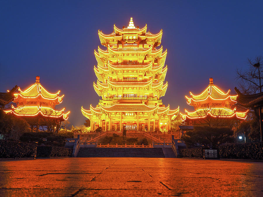 Asia Photograph - Gold Tower by David Alexander Arnavat & Gold Tower Photograph by David Alexander Arnavat