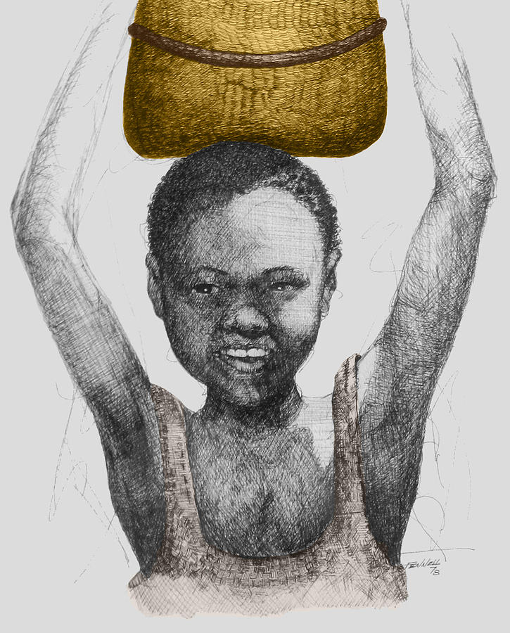 Africa Drawing - Gold Treasure by  Albert Fennell