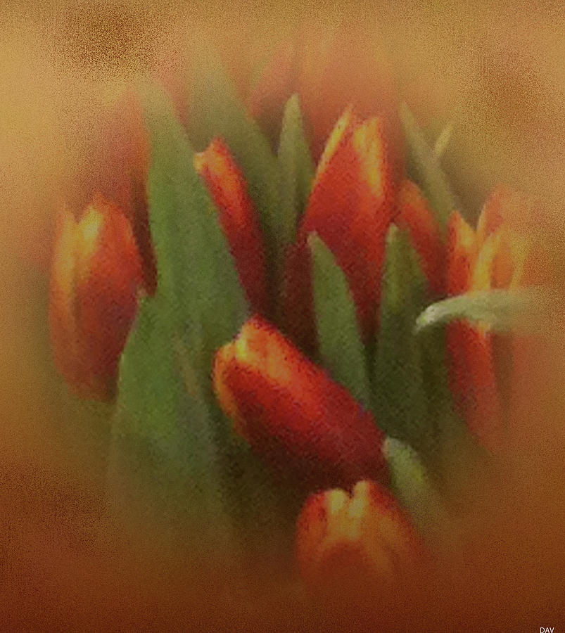 Floral Landscape Photograph - Gold Warp Tilups by Debra     Vatalaro