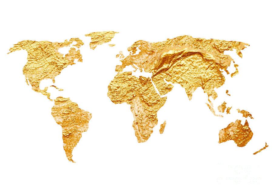 Gold world map watercolor painting painting by joanna szmerdt map painting gold world map watercolor painting by joanna szmerdt gumiabroncs Gallery