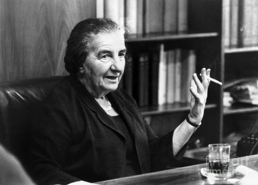 1969 Photograph - Golda Meir (1898-1978) by Granger