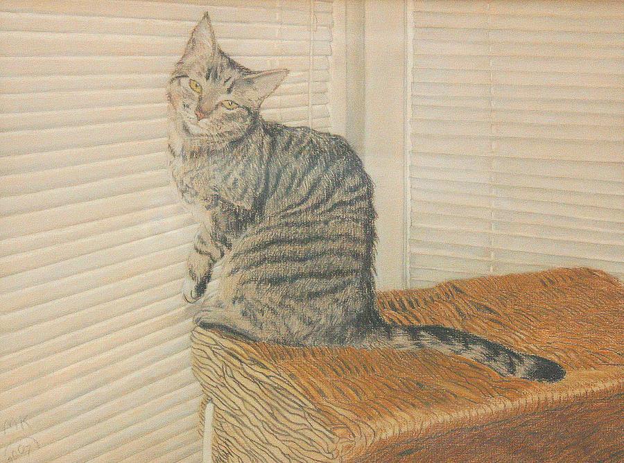 Tabby Cat Painting - Goldberry by Miriam A Kilmer