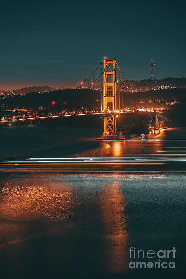 Golde Gate Bridge Photograph by Art K