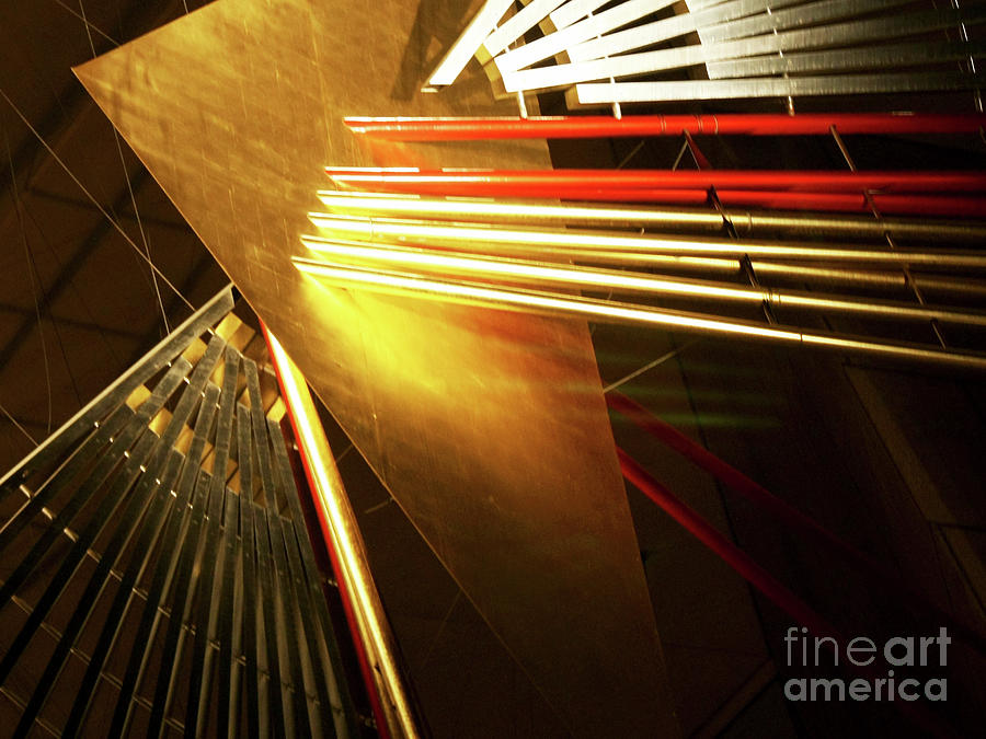 Golden Abstract by Kelly Holm