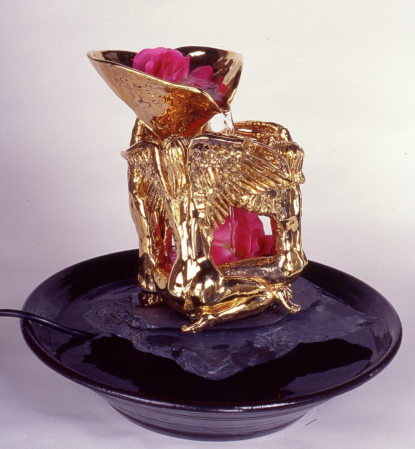 Angels Ceramic Art - Golden Angels by Frederick Dost