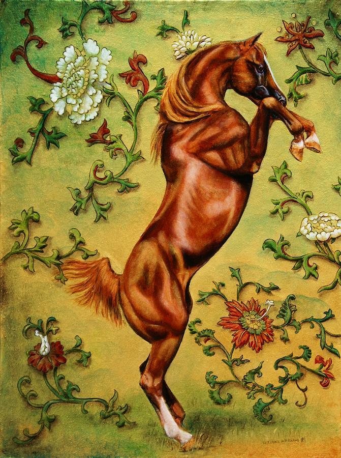 Arabian Painting - Golden Arabian by D Katherine Ramirez de Arellano