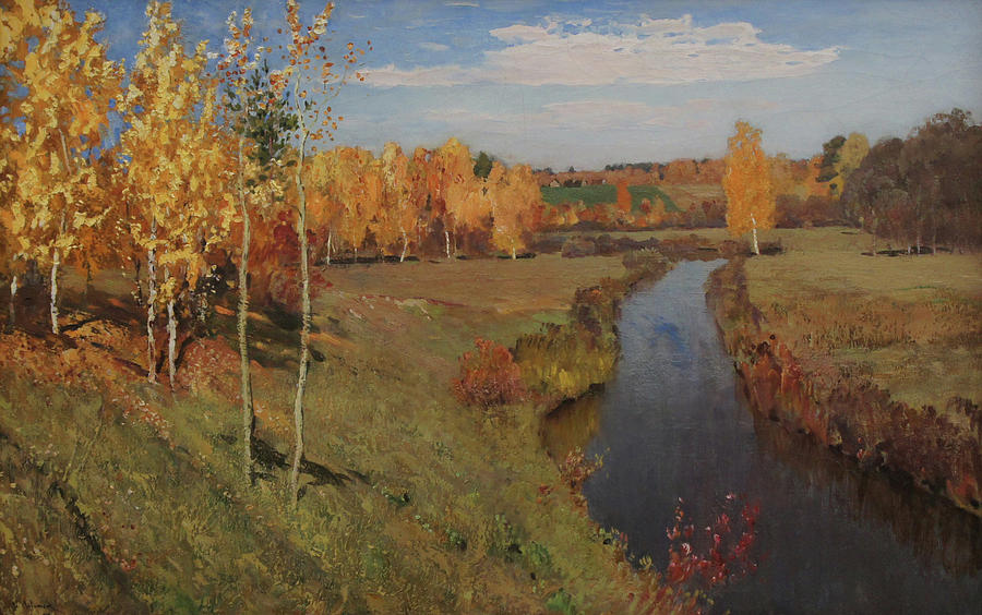 Isaac Levitan Painting - Golden Autumn by Isaac Levitan