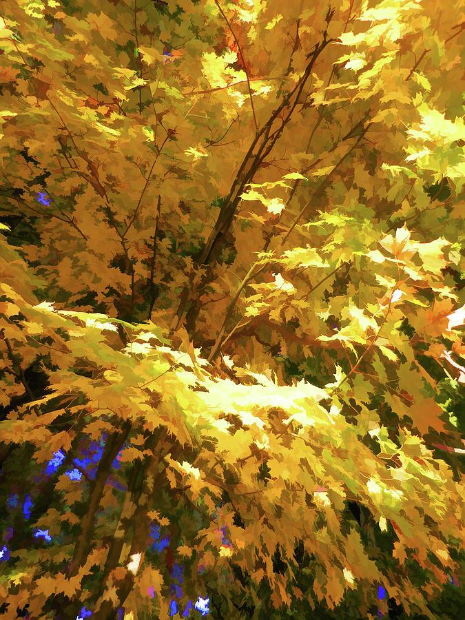 Autumn Painting - Golden Autumn Scenery by Lanjee Chee