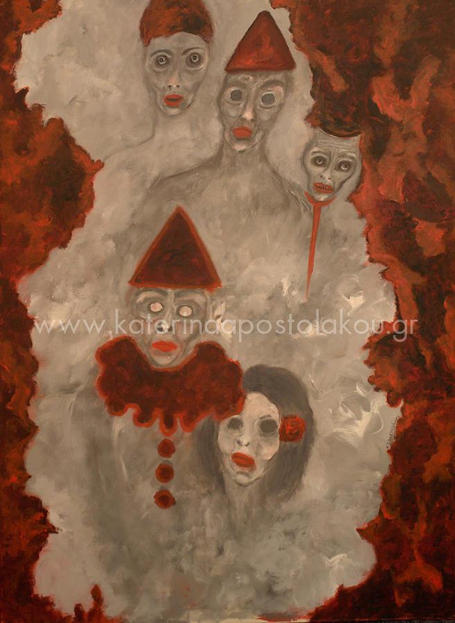 Golden Boys And Girls. Painting by Katerina Apostolakou