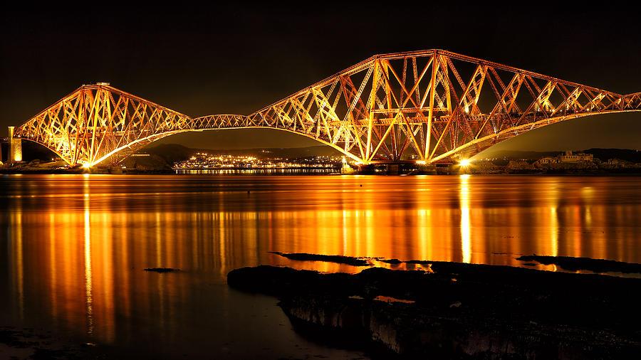 Bridge Photograph - Golden Bridge by Grant Glendinning