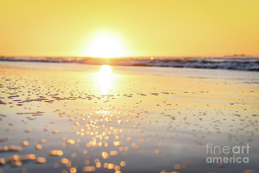 Sunset Photograph - Golden Bubbles by Inger Vaa Eriksen