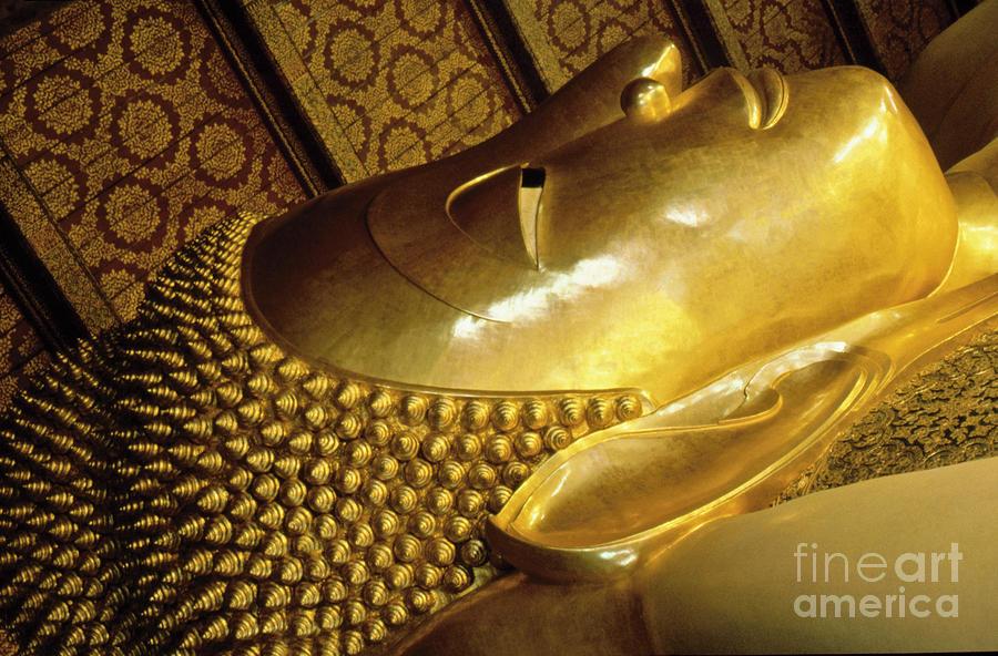 Golden Buddha Face Photograph