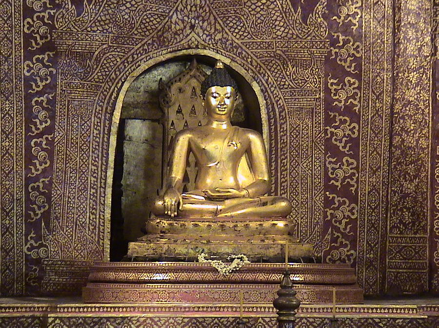 Religion Photograph - Golden Buddha Of Chang Mai by William Thomas