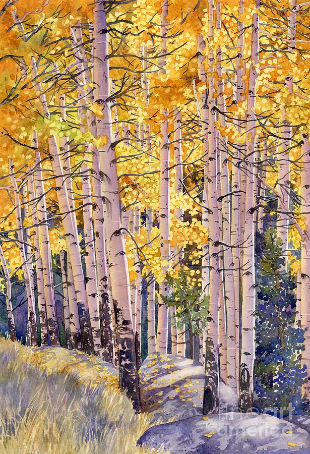 Landscape Painting - Golden Canopy by Lorraine Watry