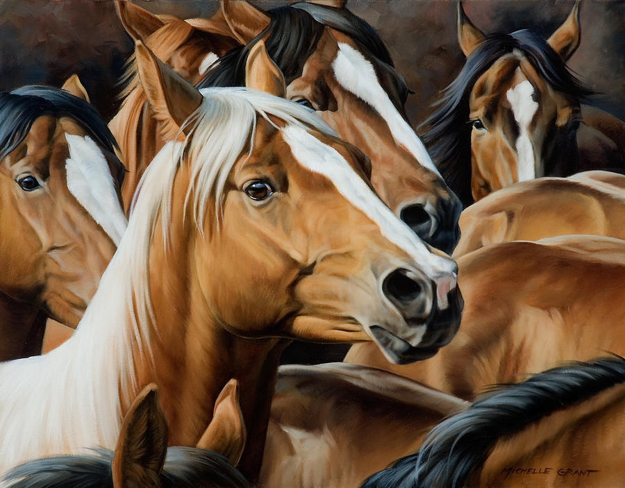 Michelle Grant Painting - Golden Child by JQ Licensing