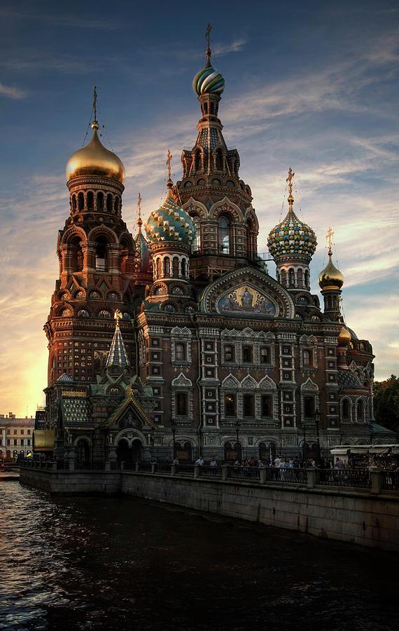 Peterburg Photograph - Golden Church by Jaroslaw Blaminsky