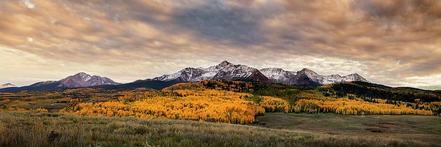Golden Colorado Panorama Photograph