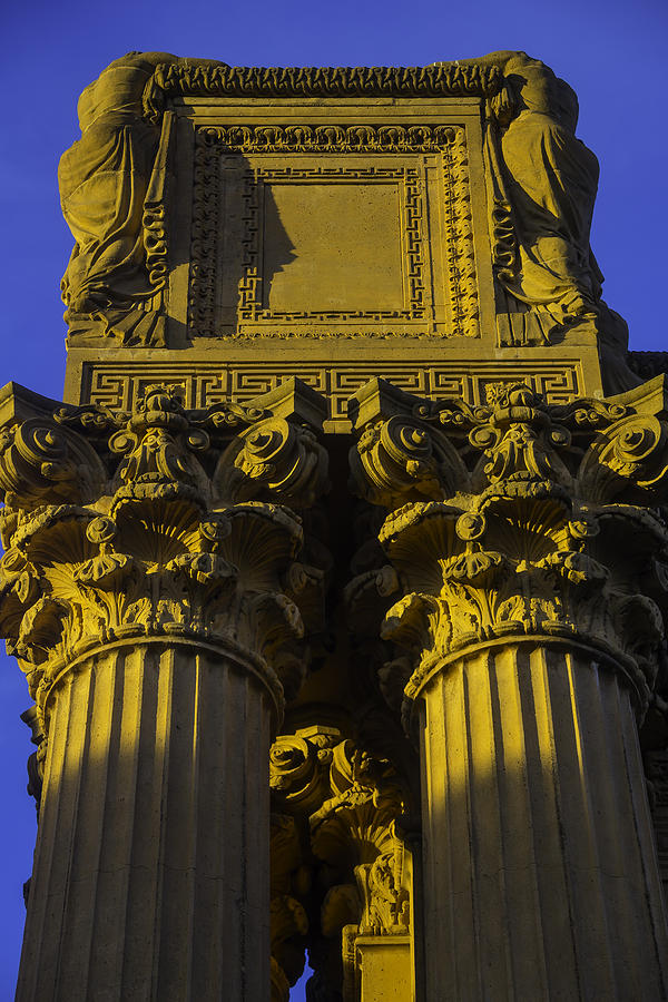 Palace Of Fine Arts Photograph - Golden Columns Palace Of Fine Arts by Garry Gay