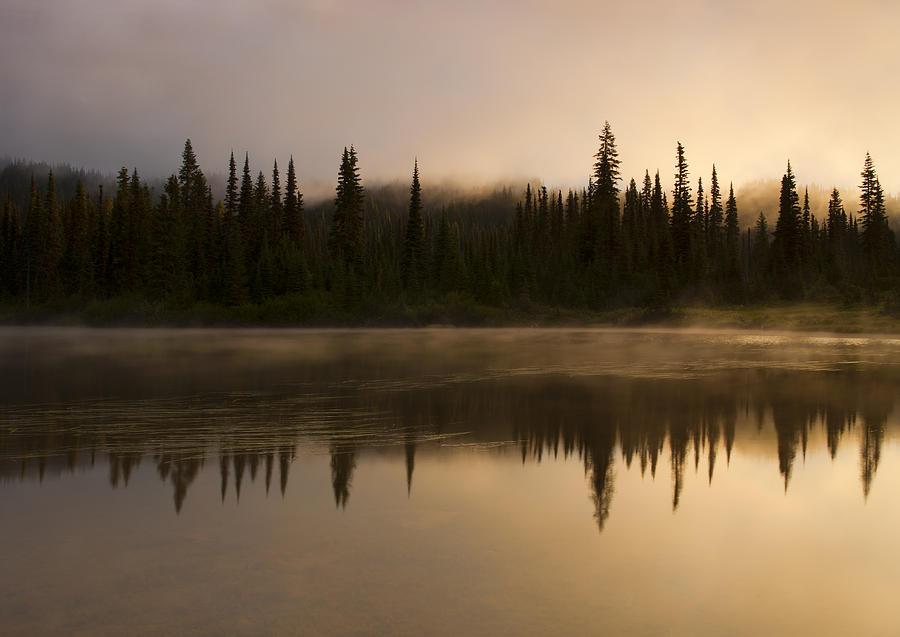 Lake Photograph - Golden Dawn by Mike  Dawson