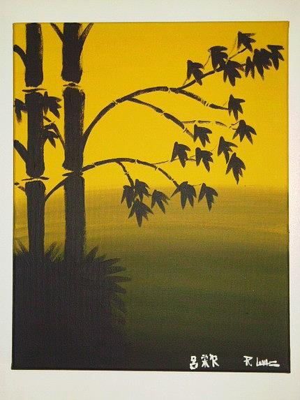 Asian Painting - Golden Dawn by Rick Lowe
