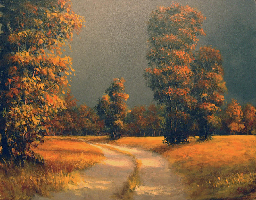 Landscape Painting - Golden Days by Eric Angeloch