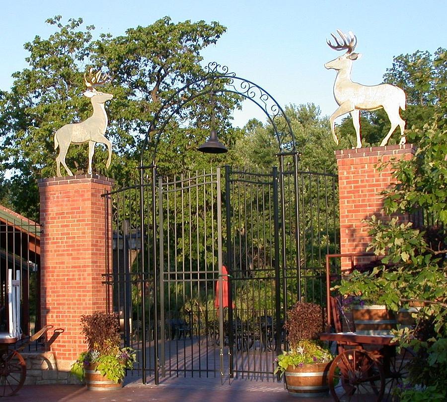 Deer Sculpture - Golden Deer by Hans Droog