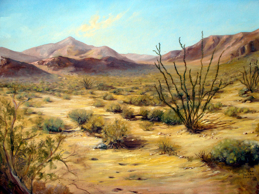 Western Painting - Golden Desert by Evelyne Boynton Grierson