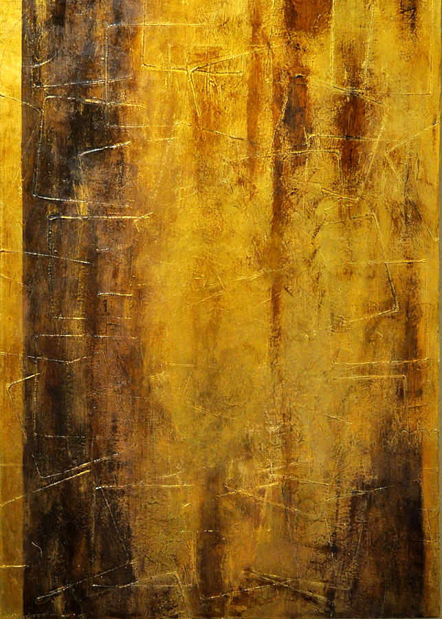 Golden Discovery Painting by Nicky Dou