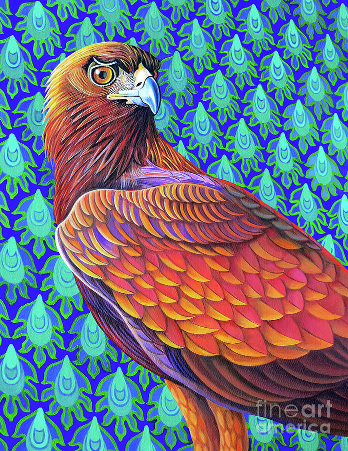Golden Painting - Golden Eagle, 2017 by Jane Tattersfield