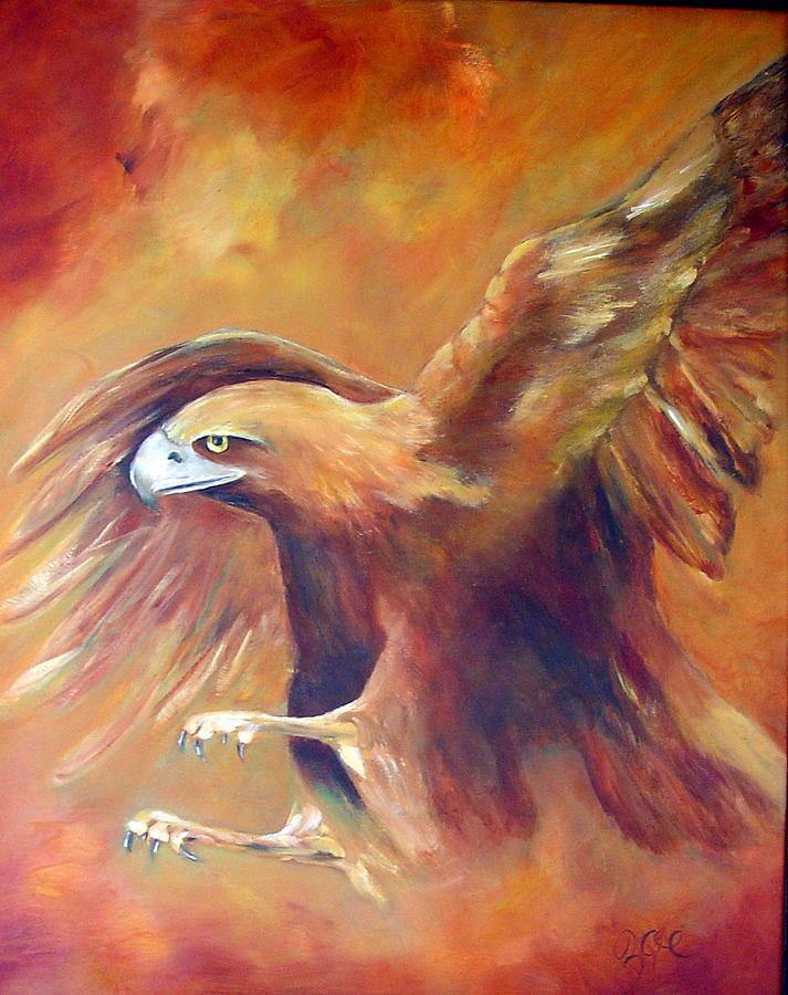 Golden Eagle Painting - Golden Eagle by Zoe Landria