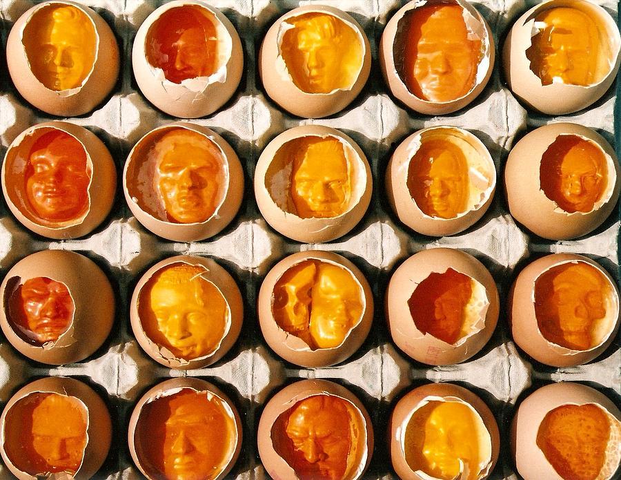 Eggs Sculpture - Golden Eggs 2 by Mark Cawood