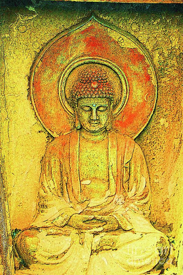 Buddha Photograph - Golden Enlightenment by Keri West