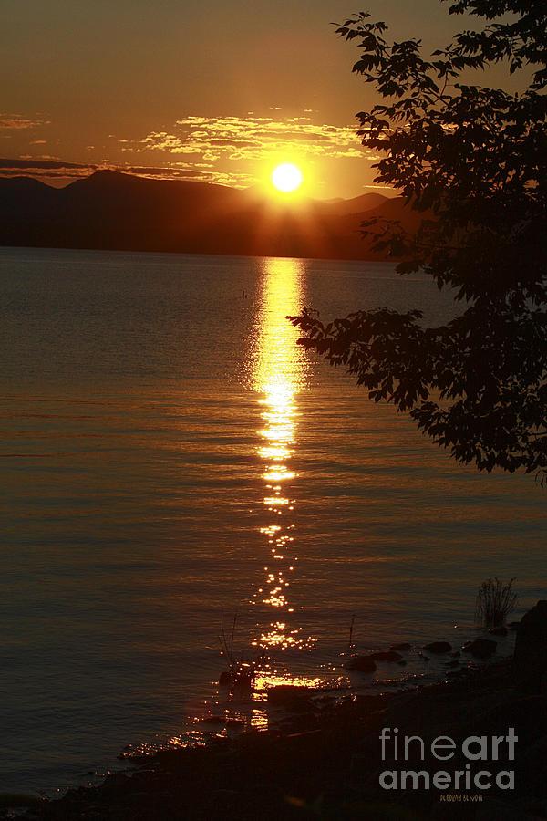 Sunset Photograph - Golden Evening Sun Rays by Deborah Benoit