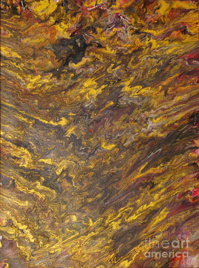 Expressionism Painting - Golden Feeling by Ckone