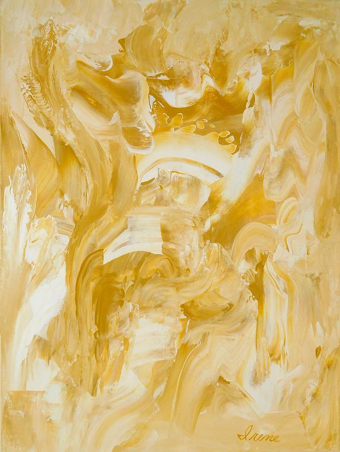 Golden Flow Painting - Golden Flow by Irene Hurdle