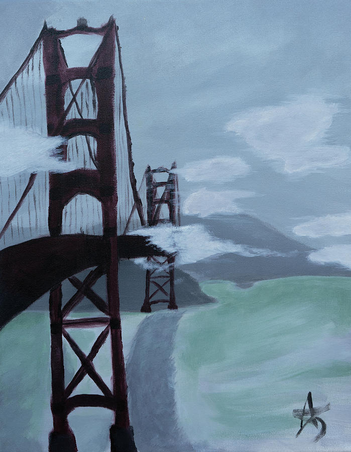 Golden Gate Painting - Golden Gate by Aj