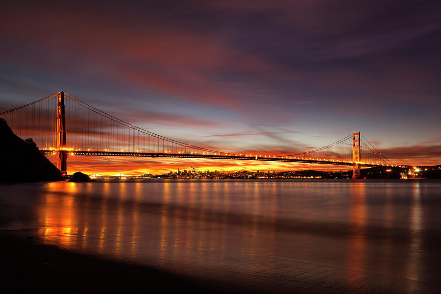 Golden Gate at the Break of Dawn by Rick Pisio
