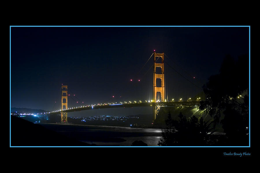 Golden Gate At Night Photograph by Roy Hale