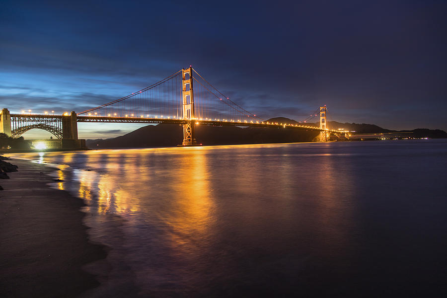 San Fransico Photograph - Golden Gate Blue Hour by John McGraw
